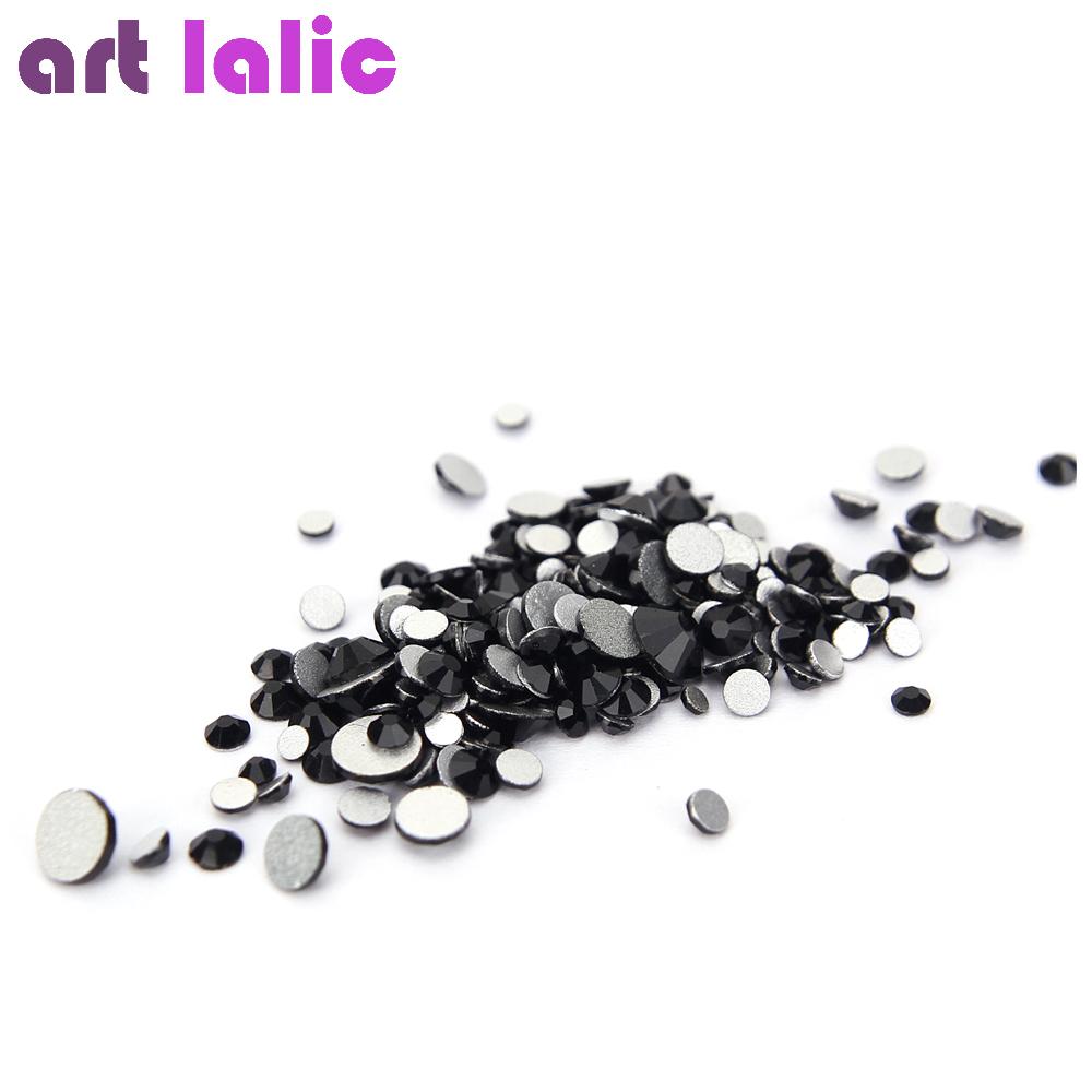 черное стекло кристалл стразы микс размеры ногтей камни стразы для ногтей фольги назад алмазы блеск прелести украшения советы