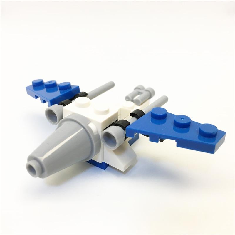 1313 Swrs Early education digital Blocks falcon Airplanes Block toys Brick ABS Toy racing locomotive plane Exploiture 2piece