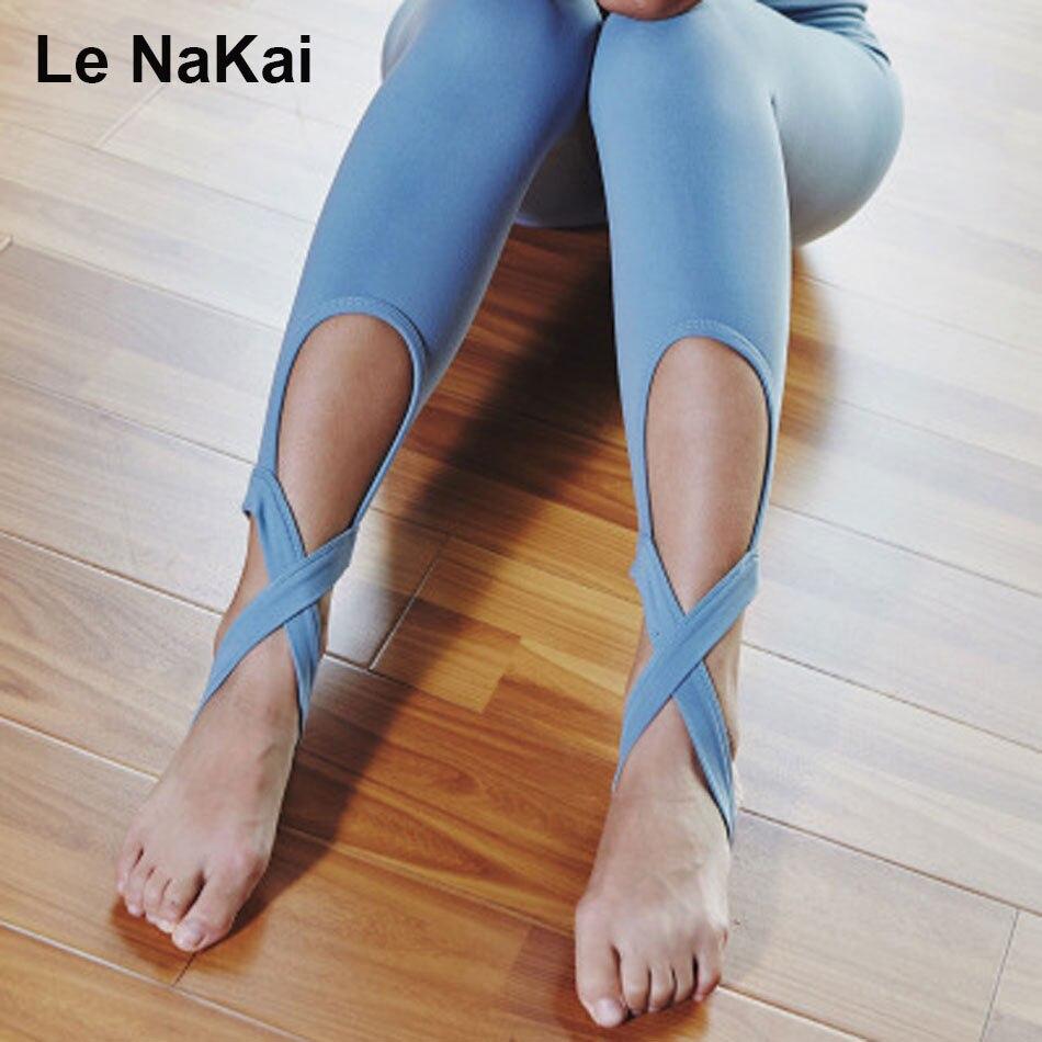 Cute Women Ballet Yoga Pants Fitness Cross Yoga Leggings High Waist Compression Stirrup Leggings WorkoutGym Tights Run Trousers