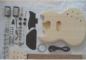 Electric guitar semi-finished unassembled kits,SG Electric guitar #4