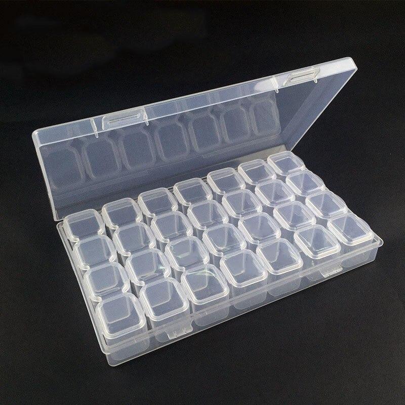 28 Grid Components Storage Plastic Part Box Transparent Patch Box Classification  Screw Accessories Drug Box Storage Box
