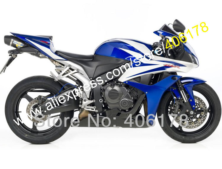 Hot Sales,For Honda F5 Blue CBR600RR 07 08 CBR 600 600RR CBR600 RR CBR600F5 2007 2008 bodykit Fairing Kit (Injection molding) abs injection front upper fairing front cowl nose for honda cbr 600 rr 600rr 2007 2008 unpainted