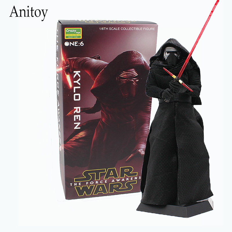 Crazy Toys Star Wars The Force Awakens KYLO REN 1/6th Scale PVC Action Figure Collectible Model Toy 29.5cm KT4236 new crazy toys star wars the force awakens kylo ren pvc action figure brinquedos figuras anime collectible kids toys 22cm