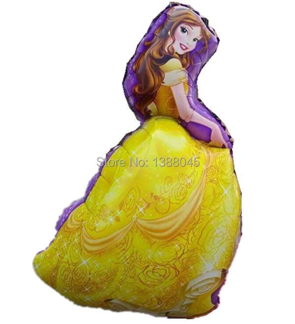 5 unids / lote tamaño grande princesa Cinderlla Belle Elsa Foil - Para fiestas y celebraciones - foto 6