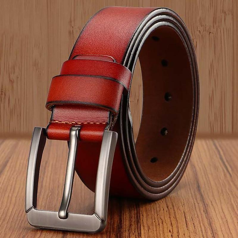 Men Genuine Leather Men Belts For Men High Quality Mens Designer Belt Jeans Man Luxury Leather Strap Male Trouser Belt Brand X16