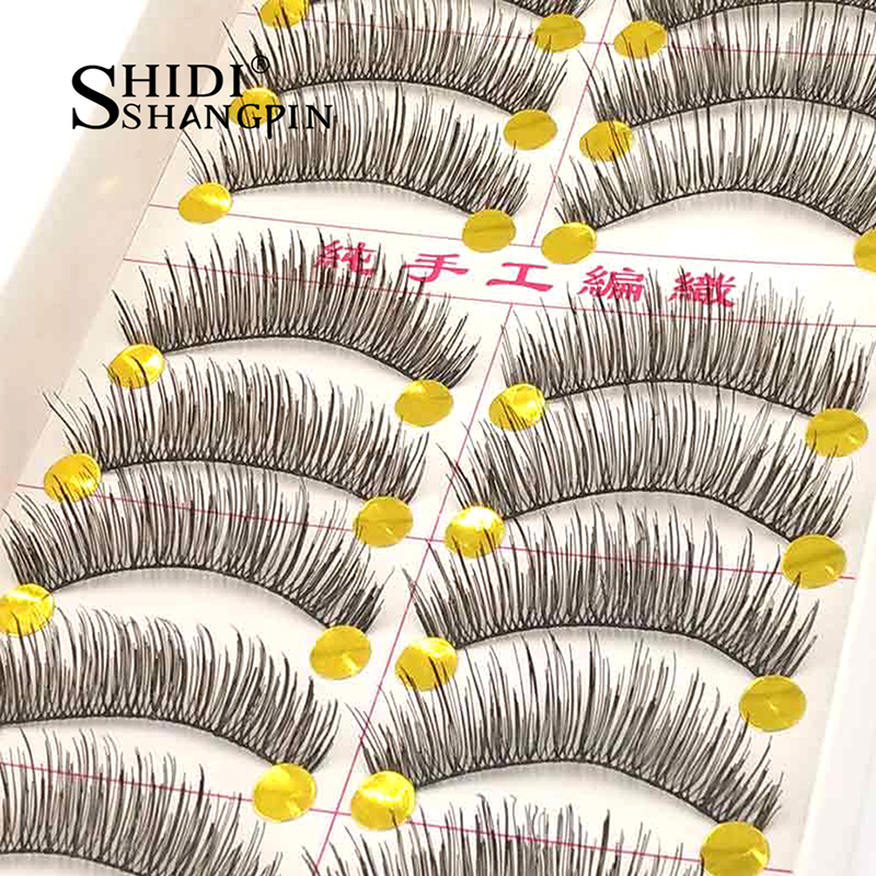 Natural False Lashes Handmade Long 10 Pairs Reusable Fake Eyelashes Makeup Kit for Beauty Cilia Cilios Eyelash Extension#TW02
