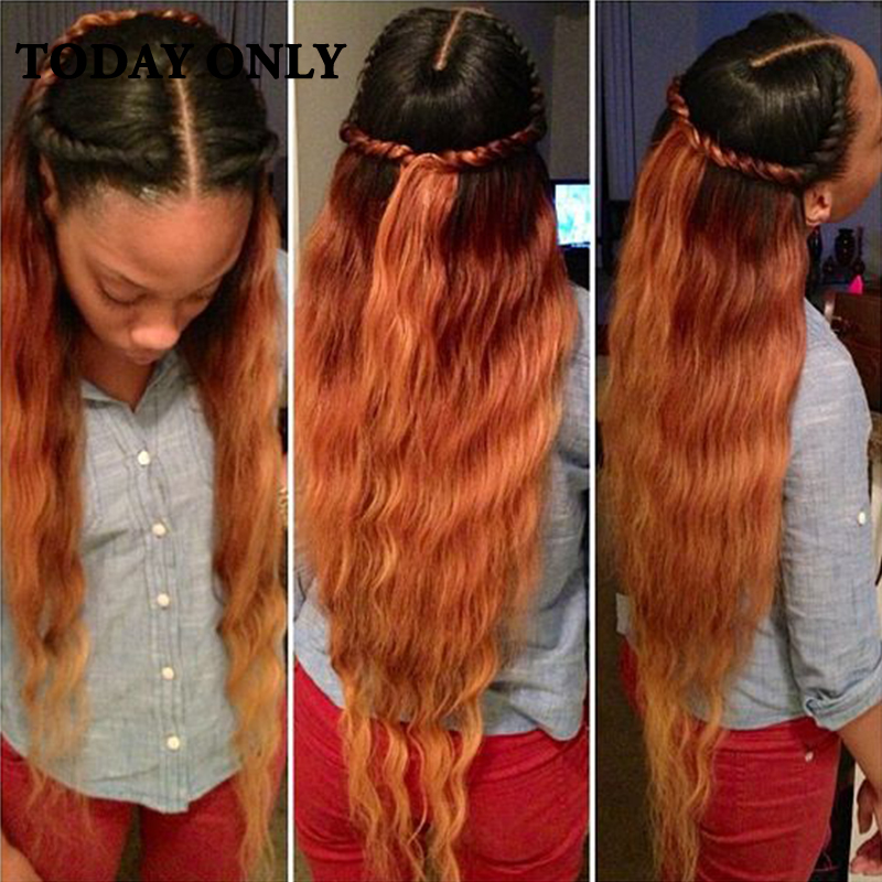 Blonde Malaysian Body Wave Virgin Hair Ombre Human Hair