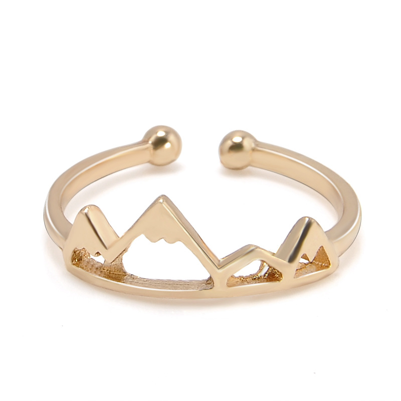 Women's Girl Adjustable Opening Beauty Gold& Silver Color Mountain Ring bague homme Jewelry Party