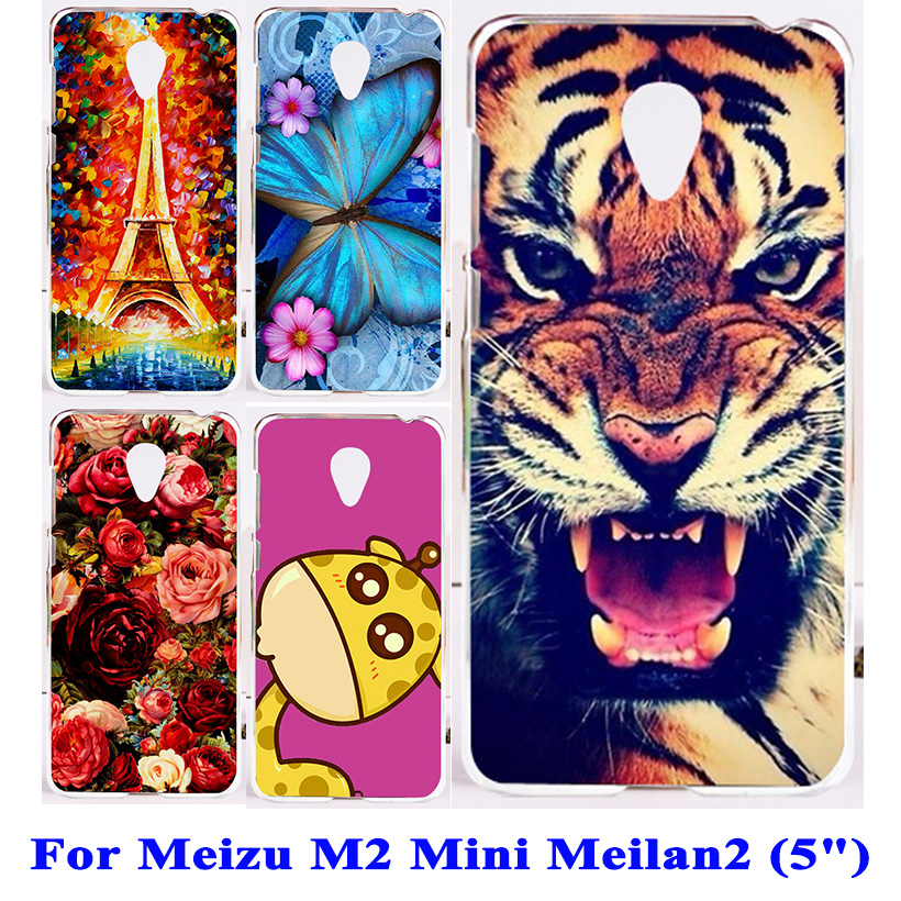 TAOYUNXI Soft TPU Hard plastic Mobile Phone Case For Meizu M2 Mini Meilan 2 5.0 inch Dual SIM 4G LTE Meilan2 Case Phone Cover