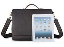 цены JMD Vintage Leather Men's Briefcase Laptop Bag Messenger Handbag Hot Selling Handbag Briefcase Bag For Men 7108Q-1