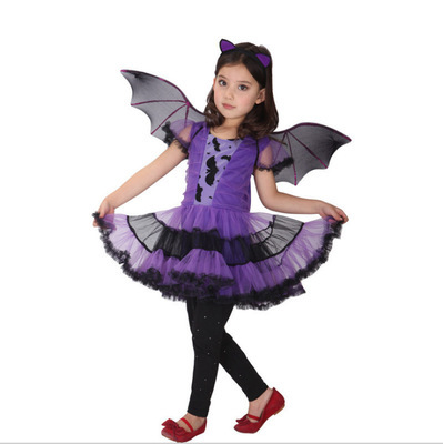 Halloween girls dresses children purple bat girl cosplay costume cosplay costume clothing kids dress 8 10 14 years teenager baby fashion kids baby girl dress clothes grey sweater top with dresses costume cotton children clothing girls set 2 pcs 2 7 years