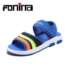 FONIRRA  New Kids Boys Sandals High Quality Fashion Leather Soft Sole Beach Shoes Childrens Big Size 28-38 For 655