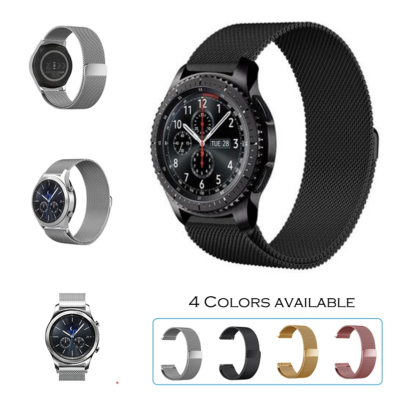 URVOI 22mm band for Samsung Galaxy Gear S3  R760 R77 milanese loop stainless steel strap wrist magnet closure quick release pins 5 colors magnetic closure clasp milanese loop watch band for samsung galaxy gear s2 classic stainless steel strap bracelet