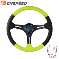 Car Steering Wheel 14inch 350mm Drifting Auto Steering Wheel Suede Leather Steering Wheels YC100958