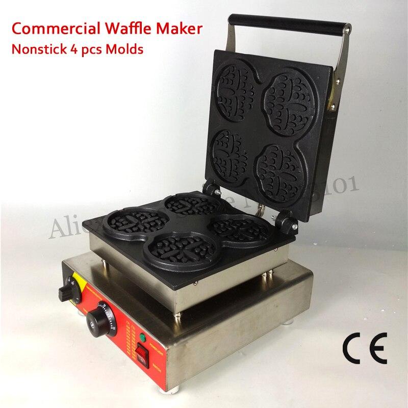 110 В/220 В Электрический антипригарным круглый Форма понял Лолли вафельные машины с таймером и Контроль температуры бесплатная доставка