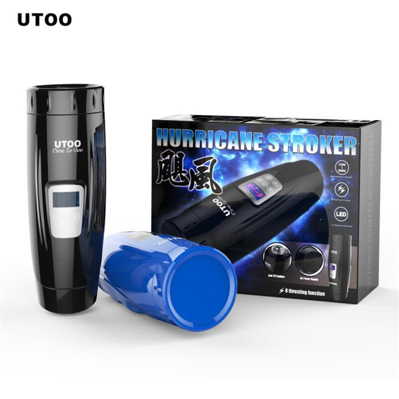 UTOO Hurricane Automatic Electric Male Masturbation cup pussy artificial vagina automatic telescopic dildo sex toys for men Sexo utoo master stormwind masturbators 10 speed automatic 360 rotation pussy electric male masturbation oral sex toys for man erotic