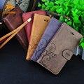 Cornmi cajas del teléfono celular billetera de cuero flip case cubierta para iphone 5 6 6 además de para samsung s6 s7 para huawei p9 sony z3 z5 lg g3 g5