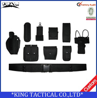 10 in 1 Military Multifunctional Police Duty belt Army tactical belt with pouches Waist Support