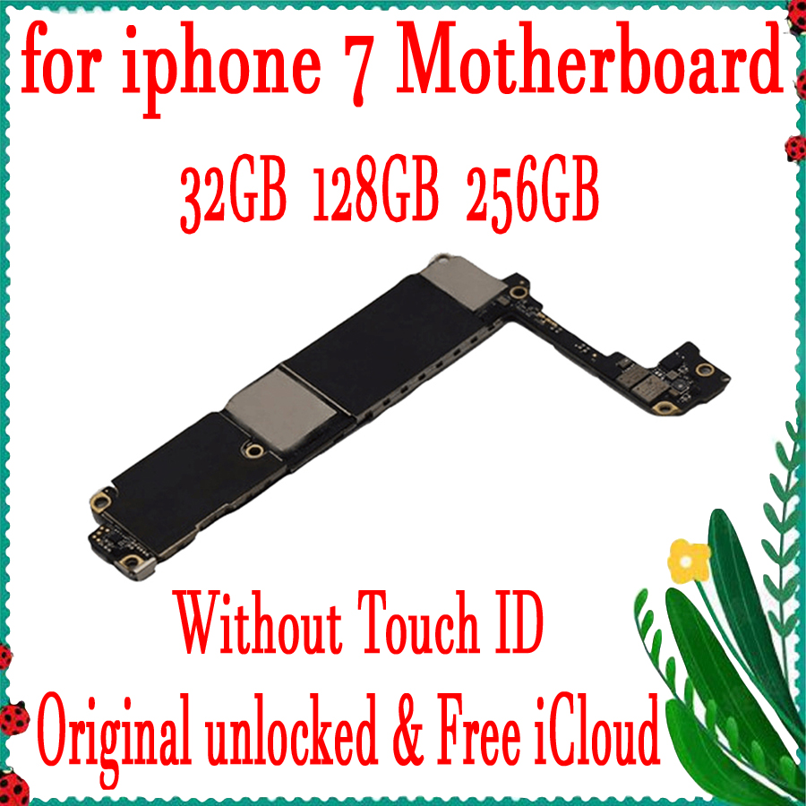 32GB 128GB 256GB Factory Unlocked For <font><b>iPhone</b></font> <font><b>7</b></font> <font><b>Motherboard</b></font>,Full <font><b>Working</b></font> For <font><b>iPhone</b></font> <font><b>7</b></font> Logic Board Mainboard <font><b>With</b></font>/Without <font><b>Touch</b></font> <font><b>ID</b></font> image