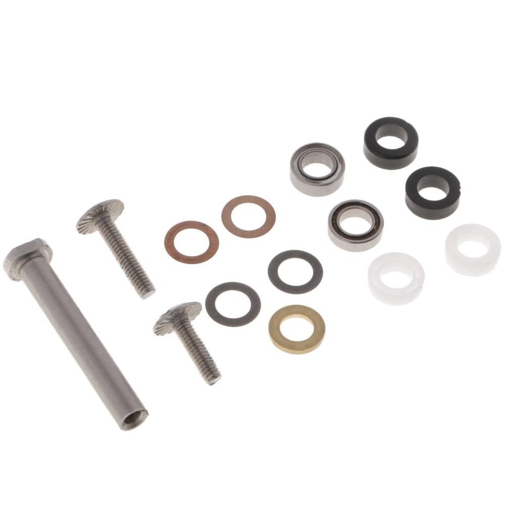 1 Set Fishing Reel Handle Screws Set Accessories Stainless Reels Handle Knob Bearing Components Washers For Reel Repair DIY