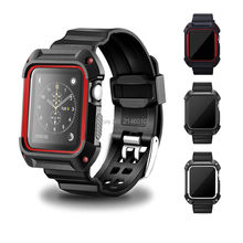 NEW Rugged Protective Case With Wrist Strap Bands For Apple Watch Series 1/2 new rugged protective case with strap bands for apple watch series 1 38mm 42mm watchband strap bracelet replacement accessory