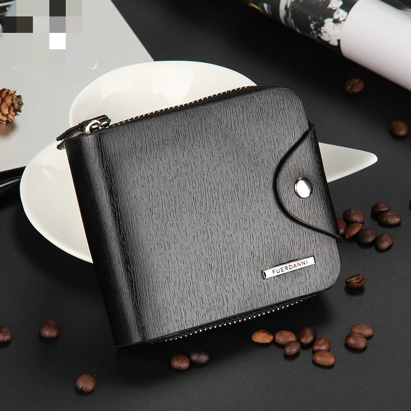 2018Baellerry mens business PU zipper short wallet high quality multi-function package small classic package DXW01