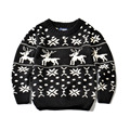 Toddler Boy Sweater Spring Autumn Baby Boys Pullover snowflake and deer  SZ 2-7 Years