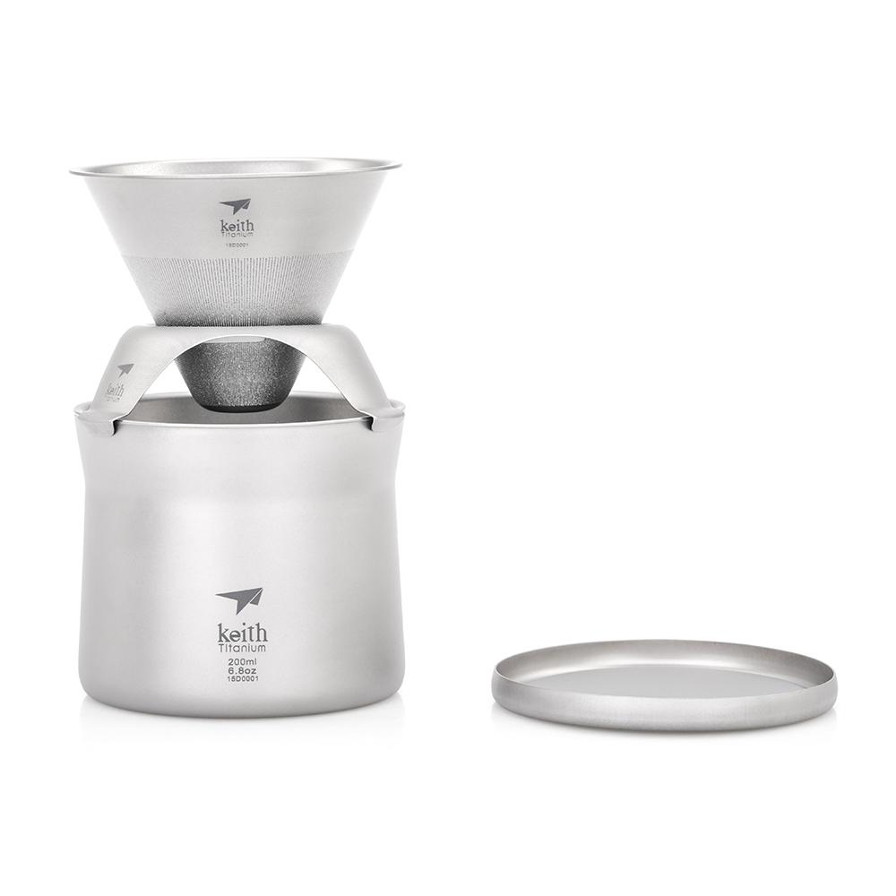 Keith Ti3911 titane Mini café thé tasse filtre tasse un ensemble