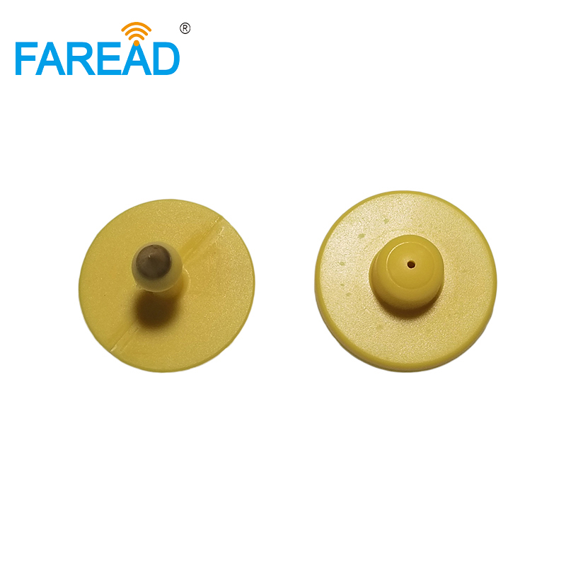 X10pcs Free Shipping Livestock Management UHF ISO18000-6C RFID Electronic Button Ear Tag For Pig ,sheep,cow,ect