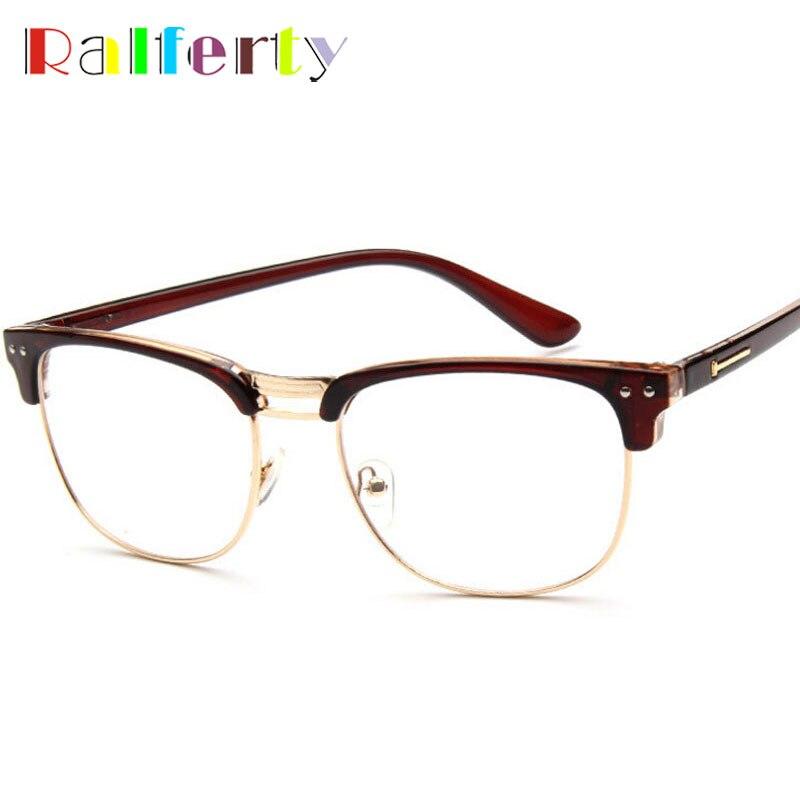 078be21925cec Ralferty Armações de Óculos Óptica Quadros de Óculos Óculos de Lente Clara,  Designer Mulher Homem De Óculos Olho Óculos de Armação oculos de grau 1336