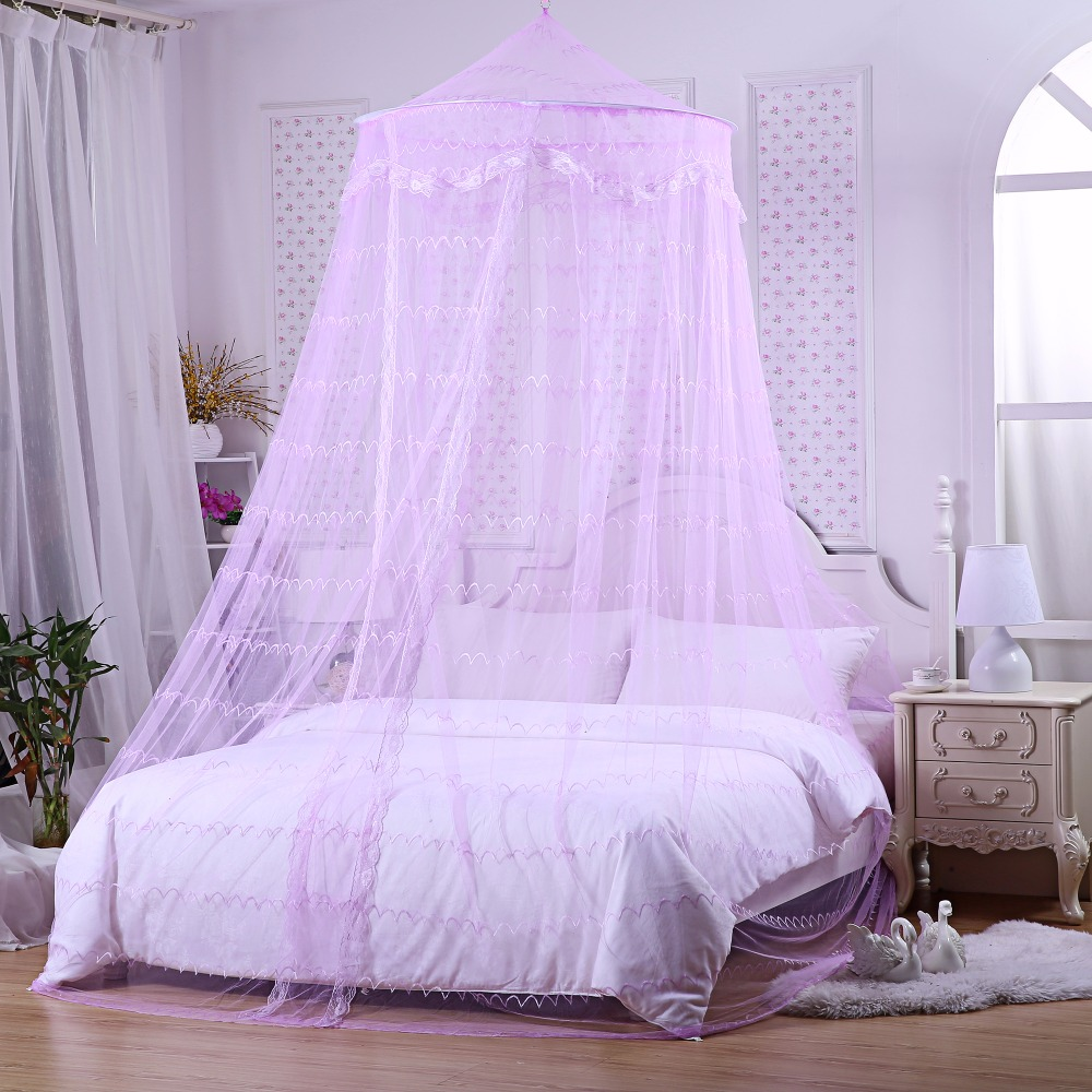 4171bfd408c Princess Mosquito Net Elegant Lace Canopy Insect Protection Fabric Mesh one  Door Curtain Decor 2.2M Double Bed Tent