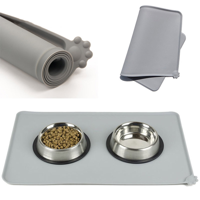 Easy Washing Dog Food Mat for Dog Silico