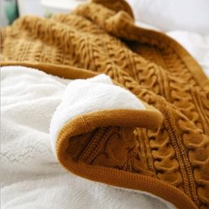 Image 4 - CAMMITEVER 180*120cm Soft Blankets for Beds Cotton Blanket Bedspread Bedding Knitting Patterns Blanket Comfy Sleeping Bed