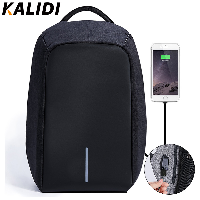 KALIDI Laptop Bag Caricatore USB per Macbook 13 15 pollici Borsa per notebook Borse per computer impermeabile per uomo Donna Zaino per laptop 15.6