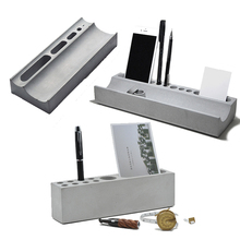 Multifunctional concrete pen holder mobile phone bracket silica gel mould business card holder household office stationery
