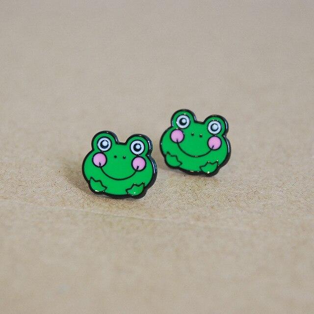 Сережки с милыми лягушками 2