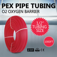 1/2 x1000ft Pex Tubing Oxygen Barrier EVOH Red 1000ft Heating with Free Cutter