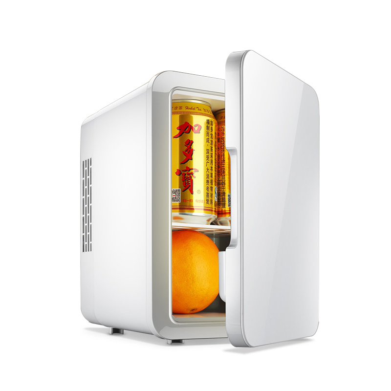 2 In 1 Mini Refrigerator 4L  12V / 220V Dual Use Mini Car Fridge Cooler Box Vehicle Fridge Car Regrigerator Home Travel Use