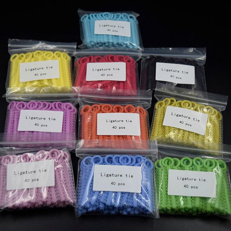 10 Packs (10400 Pcs) Dental Orthodontic Ligature Ties Braces Elastic Rubber Bands (36 Colors Choice) Leave Message