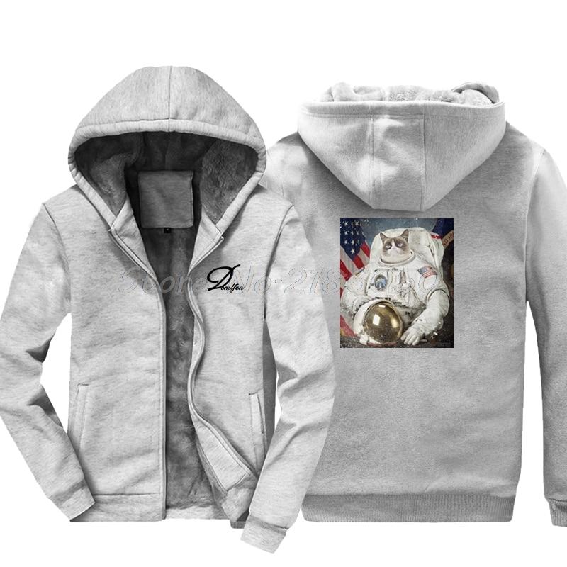 ae170f7294 US $31.86 32% OFF Fashion Winte Style Cat Space Explorer Hoodie Astronaut  Shuttle Rocket Kitten Pet Animal Funny Sweatshirt Hip Hop Jackets Tops-in  ...