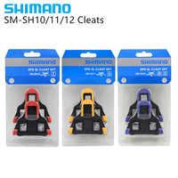 Juego de Grampo Shimano Spd Sl Sm Sh10 Sh11 Sh12 juego de bicicletas auto-bloqueo pedales de placa de Pedal flotador engaste