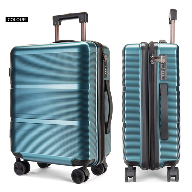 New Travel Suitcase Bag,Women Trolley Case ,Fashion Rolling Luggage Bags ,Men PC Commercial Box with 4 wheels Silent Lockbox