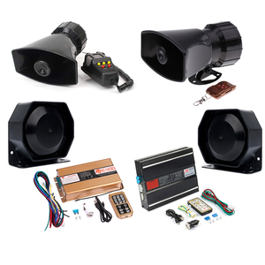Автомобильный предупреждающий сигнал, полицейская Предупреждение, Автомобильная сирена-динамик, несколько звуков, сигнал, автомобильный б...