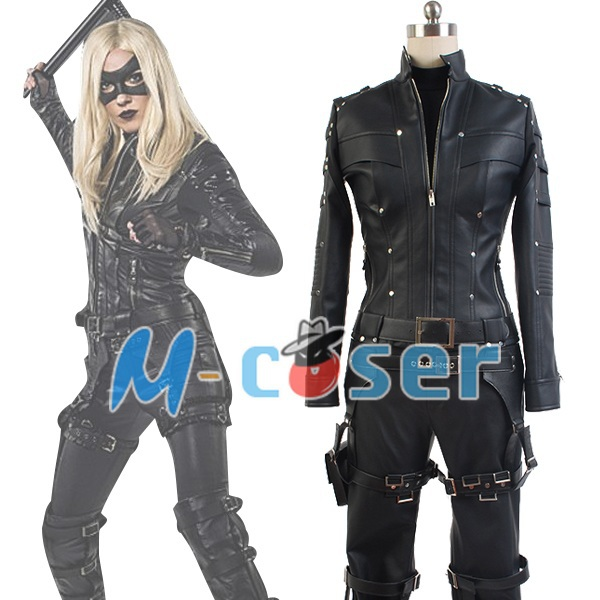 Green Arrow Season 3 Black Canary Laurel Lance Outfit Suit Hero Halloween Cosplay Costumes Jacket For Adult Women
