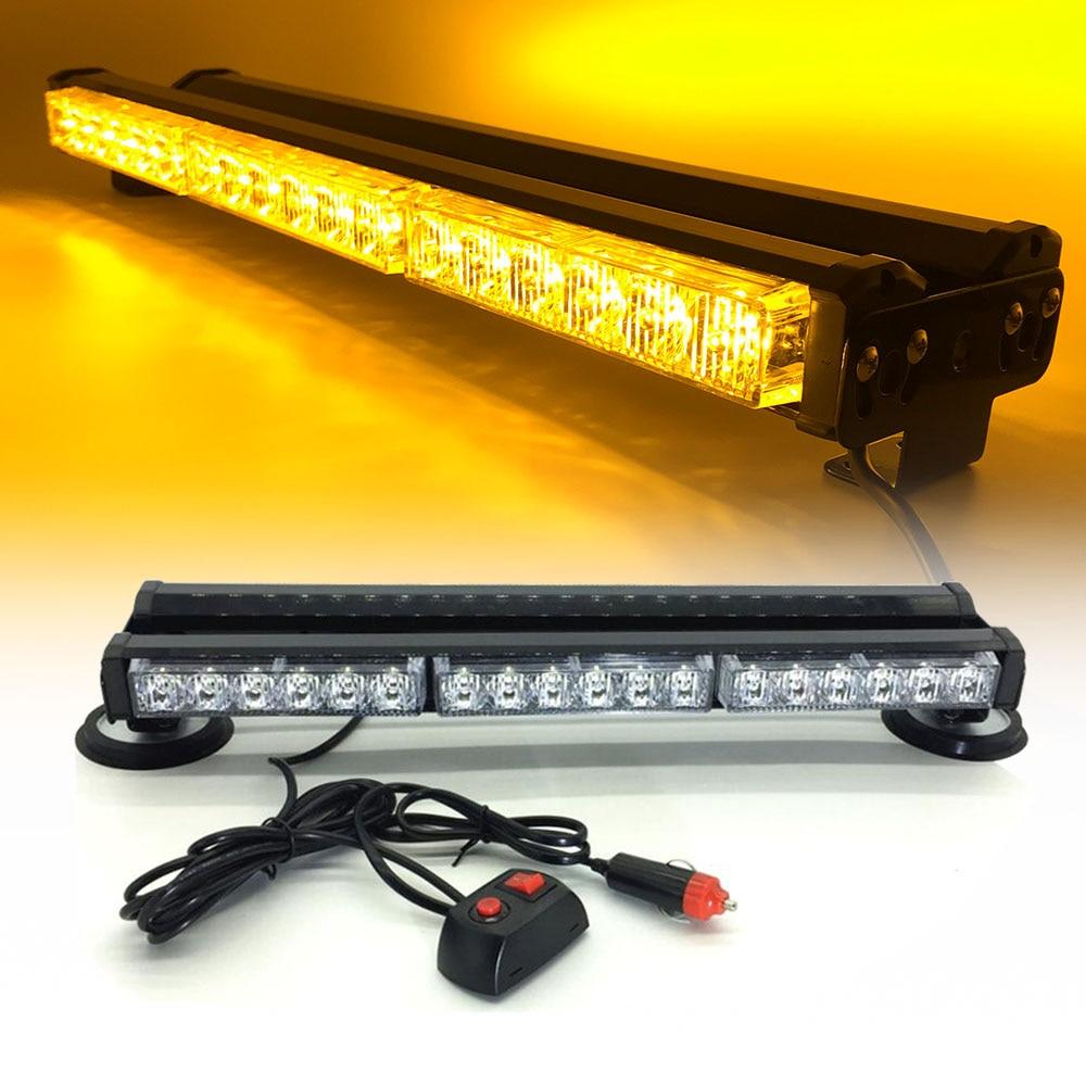 Both sides DC12V 36 3W LED long Car roof Emergency Strobe flashing Light Rescue auto Vehicle