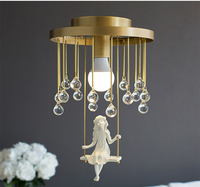 Phube Lighting Nordic Modern Lovely Angel Ceiling Light Lustre Gold Ceiling Light Lighting Free Shipping