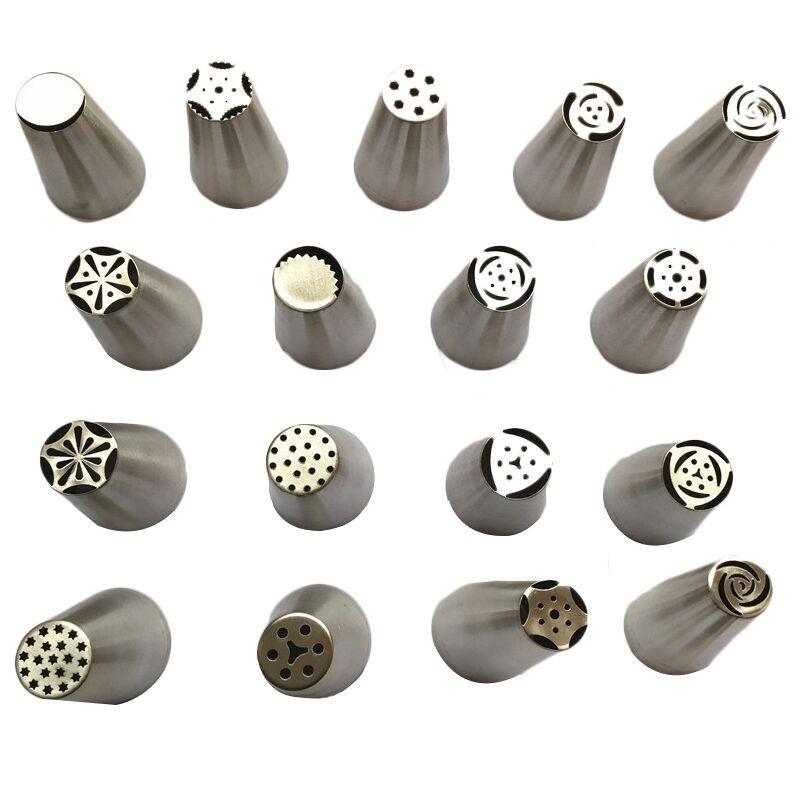 Facemile Bakeware Stainless Steel Pipping Nozzles Pastry Russian Nozzle Tips For Confectionery Tools 52