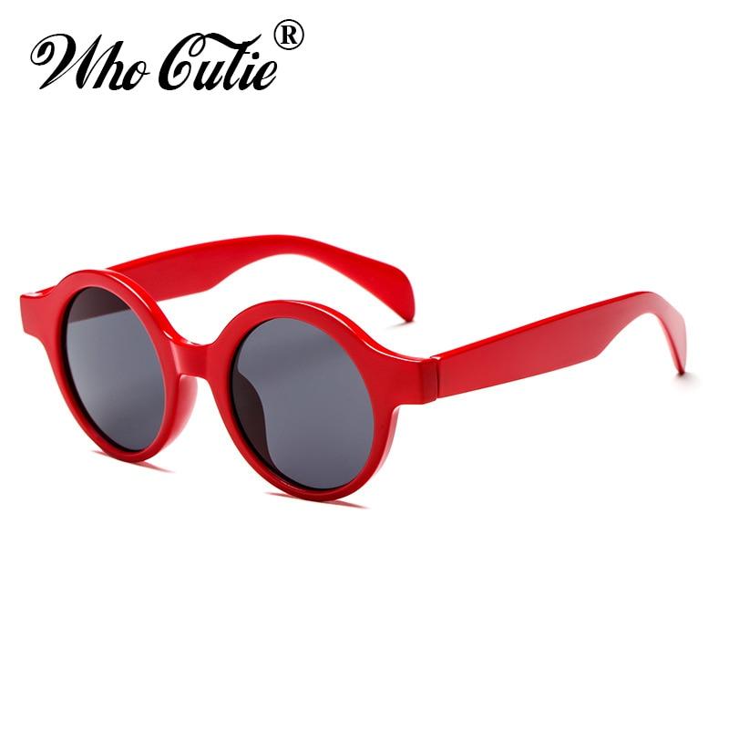 WHO CUTIE 2018 Small Round Red Sunglasses Women Men Brand Designer Vintage Retro Circle frame Sun Glasses Shades oculos OM469