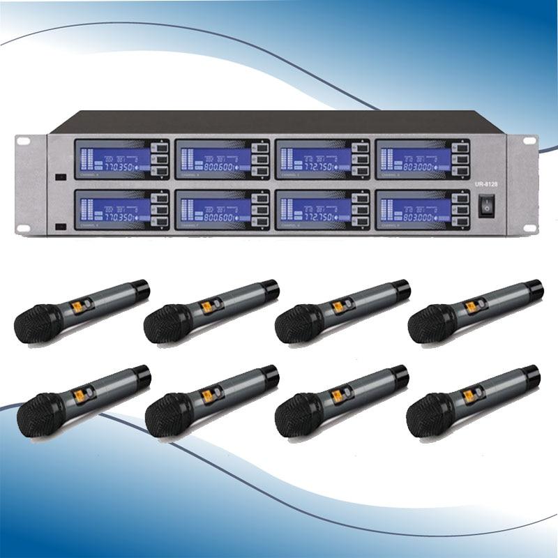 Wireless System UR 8188 Mic 8 Channel UHF Professional 8
