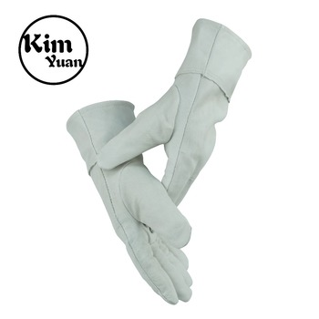 KIM YUAN Leather Welding Gloves - 10Pair Heat/Fire Resistant,Perfect for Gardening/Oven/Grill/Mig/Fireplace/Stove/Pot Holder